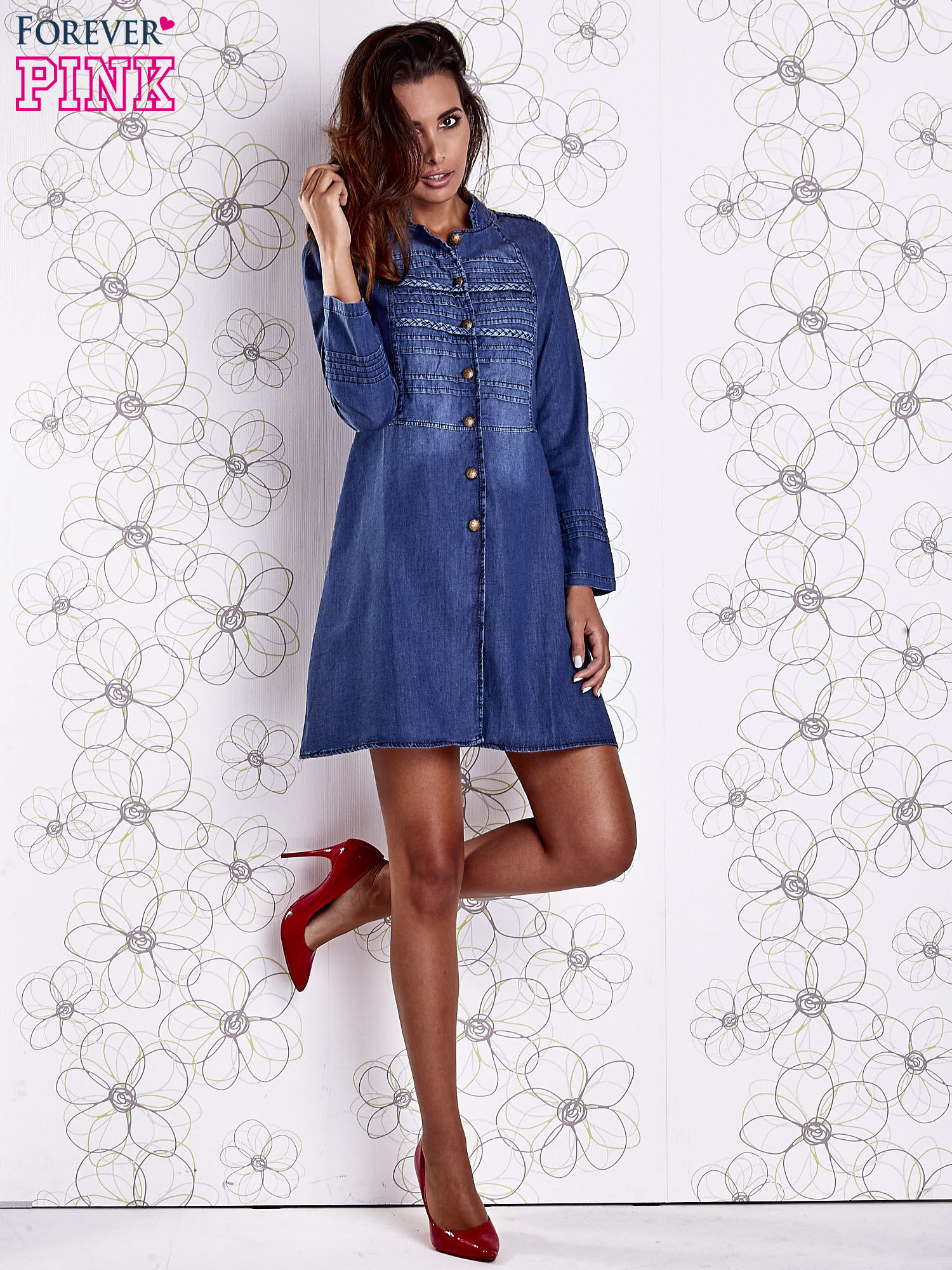 sukienka jeansowa