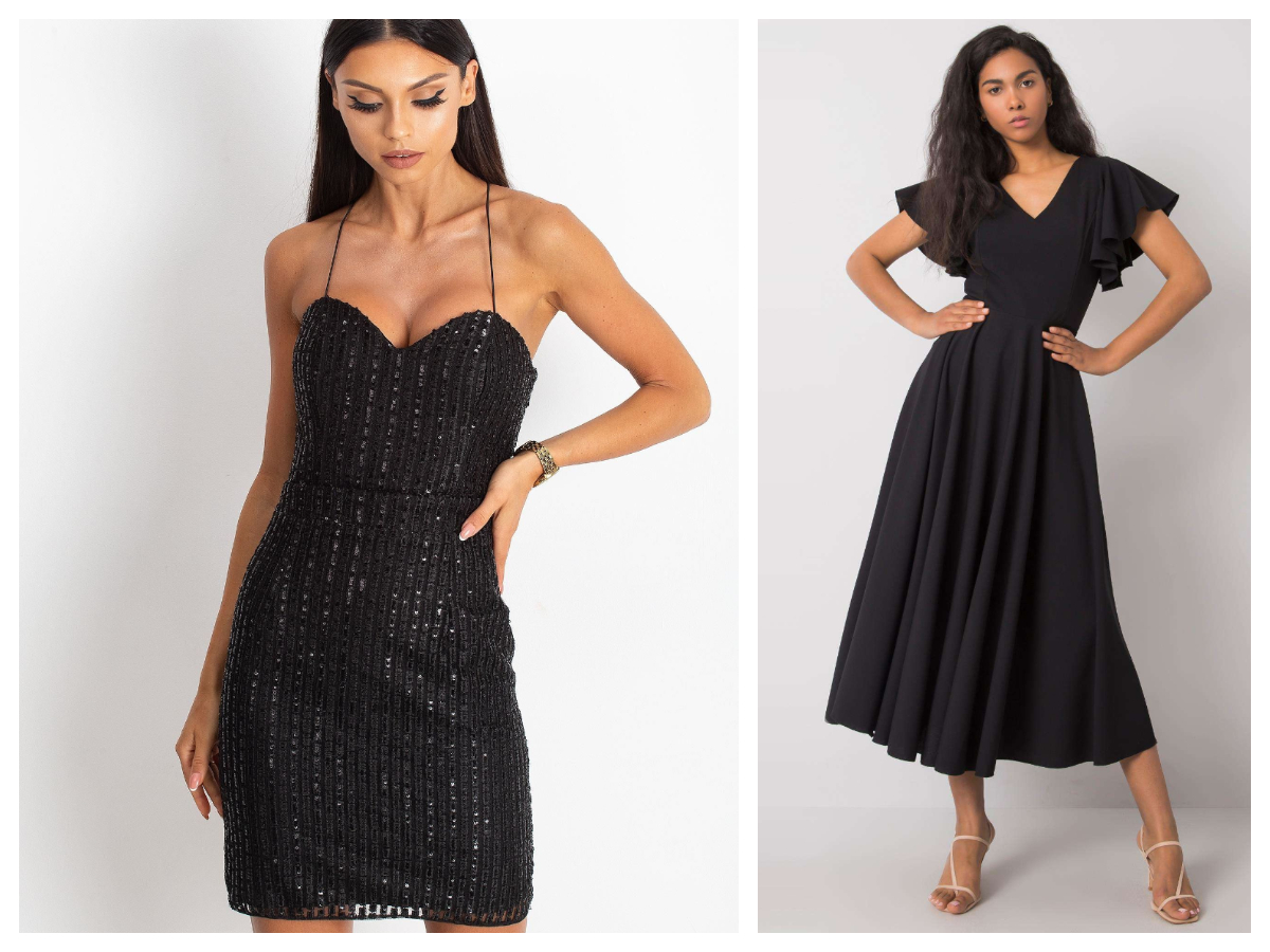 Sukienka maxi na wieczór czarna