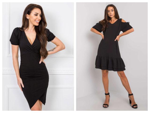 Czarna sukienka koktajlowa – ciekawe fasony